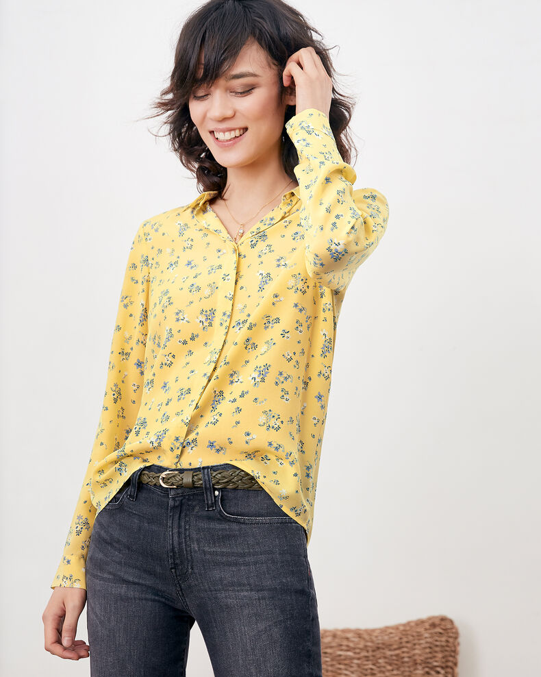Bedruckte Seidenbluse Lillybell lemon Follower