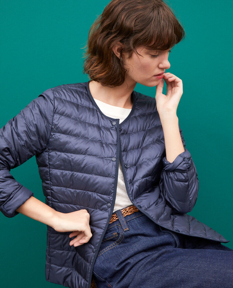 Ultra light Daunenjacke mit Rundkragen NAVY