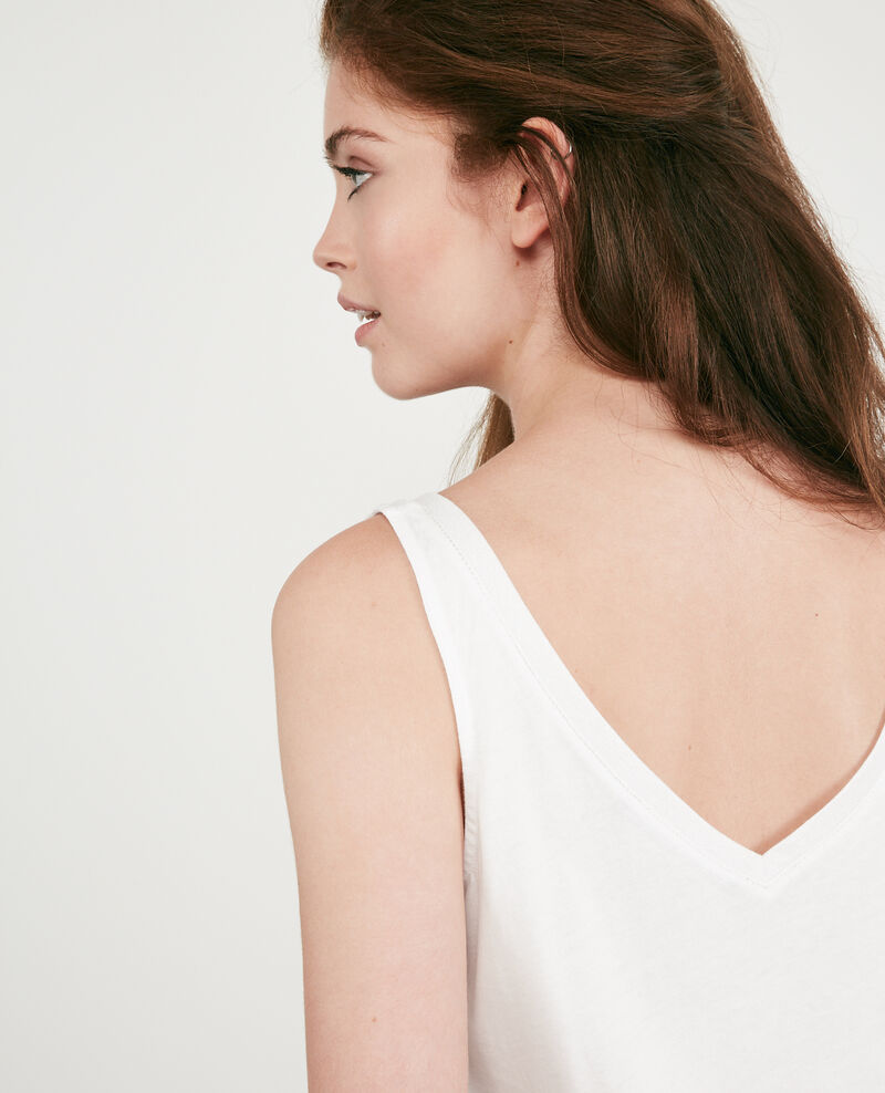 Top mit Lurex-Details Off white 9deboncoeur
