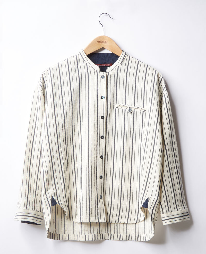 Gestreifte Bluse Off white/navy stripes Francine