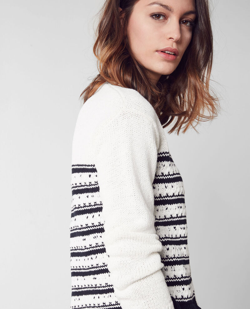 Kurzer Cardigan im Marine-Look White/midnight Chapka