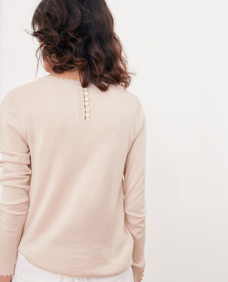Feiner Pullover aus Wolle Biscuit Fauvea