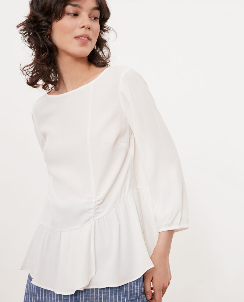 Rüschenbluse Off white Fontaine