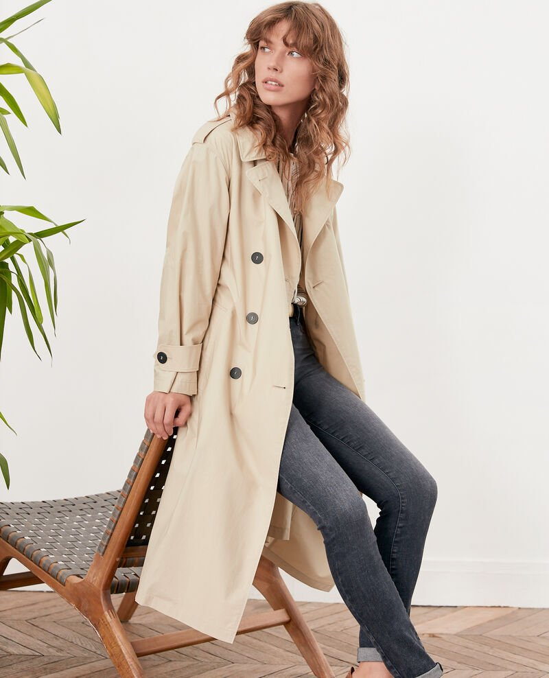 Loose fitTrenchcoat TAN
