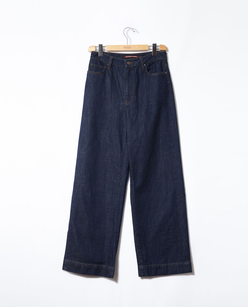 Wide Full Lenght-Jeans Rinse Glin