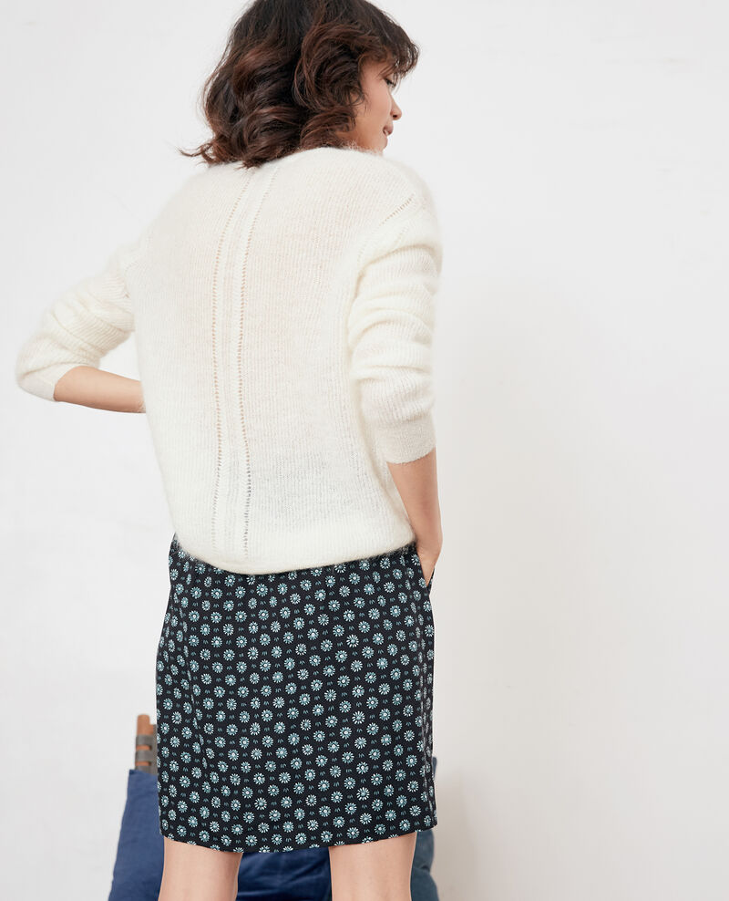 Pullover mit Mohair Off white Feever
