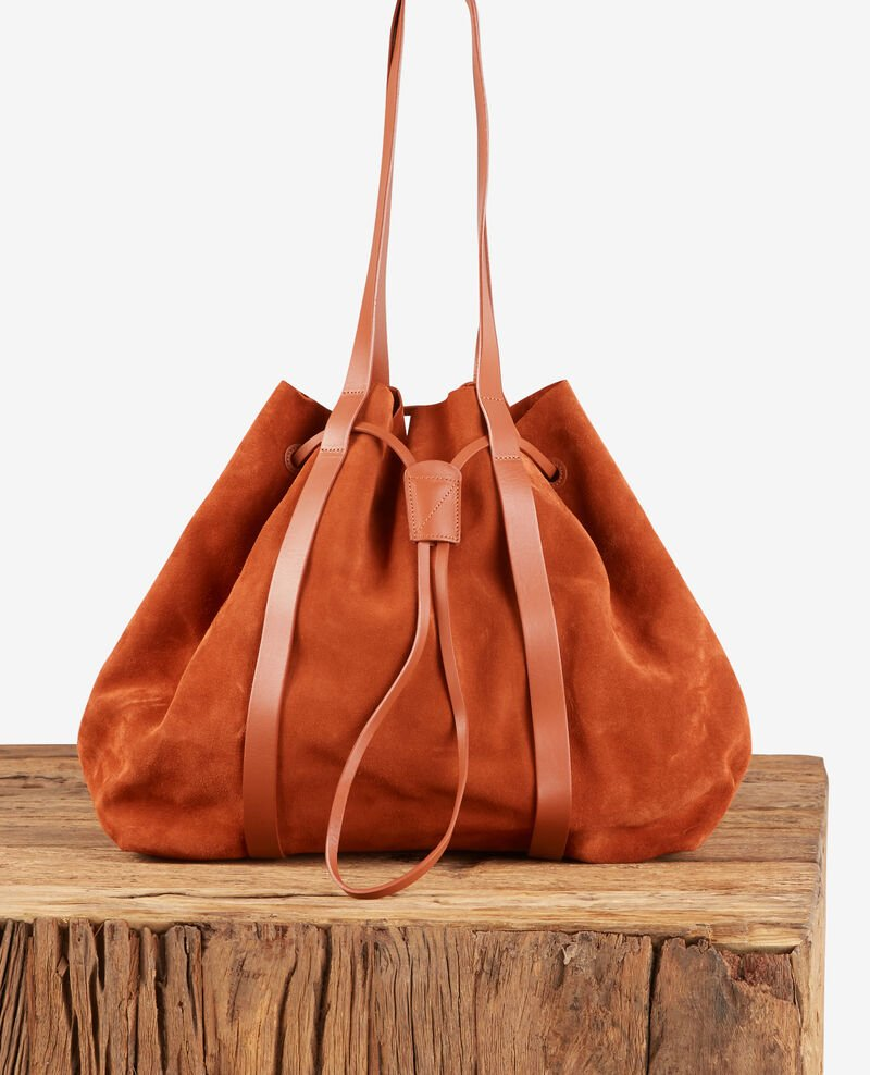 Shopping Bag aus Bimaterial-Leder Rust Debut