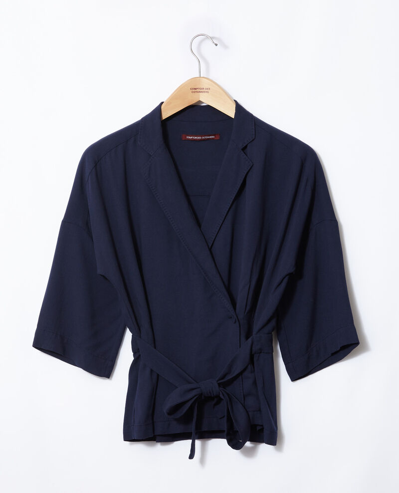 Wickelbluse Peacoat Guidell