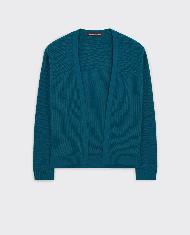 Offener Woll-Cardigan Berlin blue Cacou