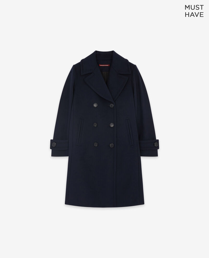 Caban-Wollmantel Navy Didanglas