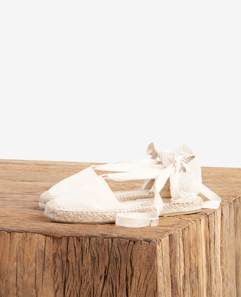 Flache Espadrilles ECRU/SAILOR STRIPES