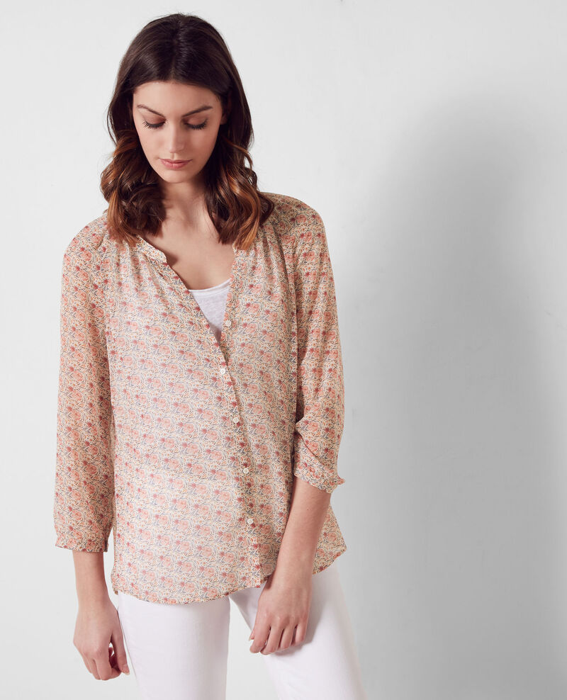 Leichte, gemusterte Bluse Coklico misty rose Cangoon