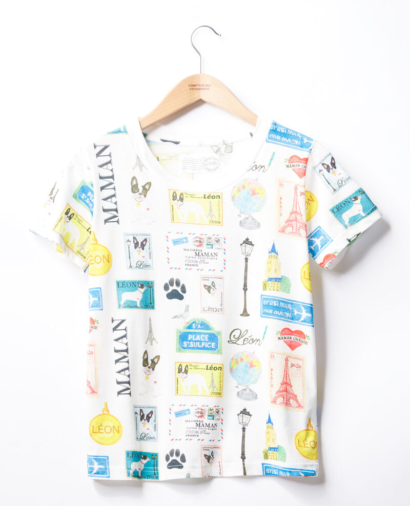 T-Shirt Léon und Paris Off white Fivoli