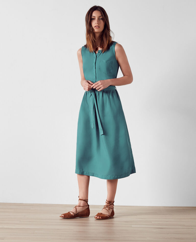 Kleid aus Tencel Jungle green Charles