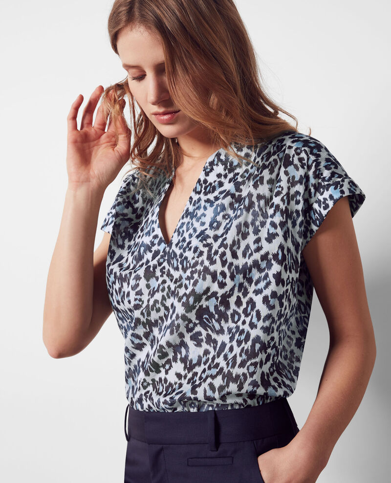 Gemusterte Oversize-Bluse Wild panthere Candy