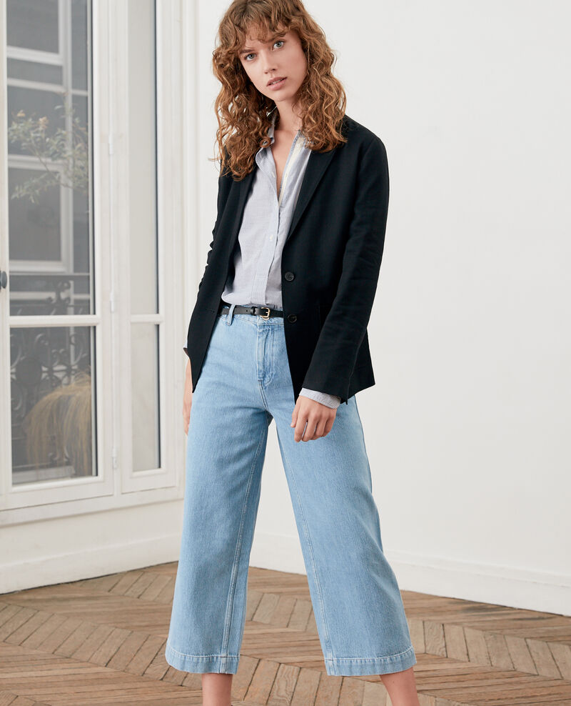 Wide Cropped-Jeans LIGHT INDIGO