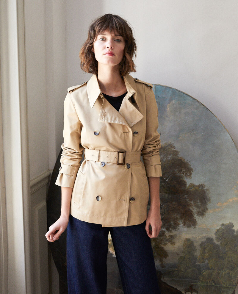 Kurzer Trenchcoat TRAVERTINE