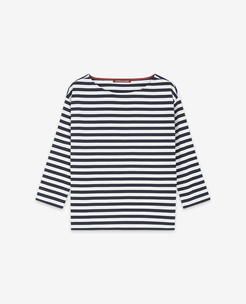 T-Shirt im Marinelook Navy/off white Ditoc