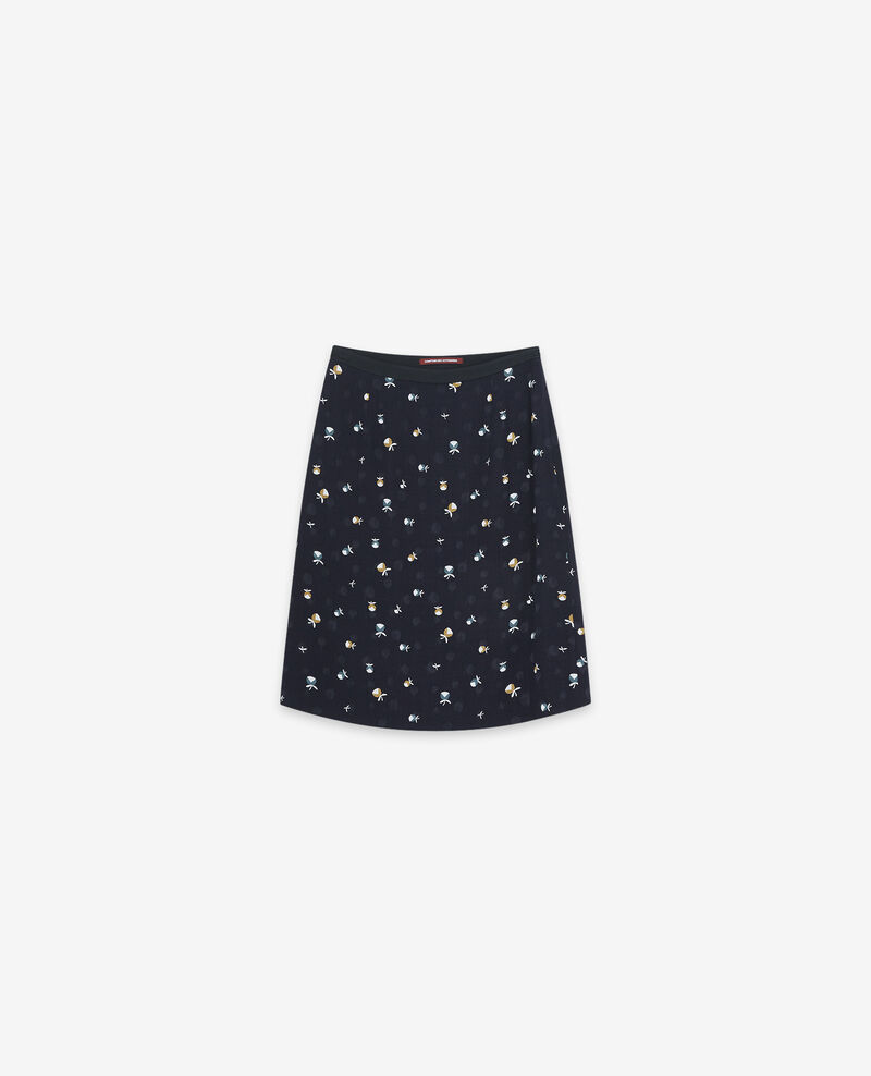Bedruckter Rock Pinecones dark navy Dickael