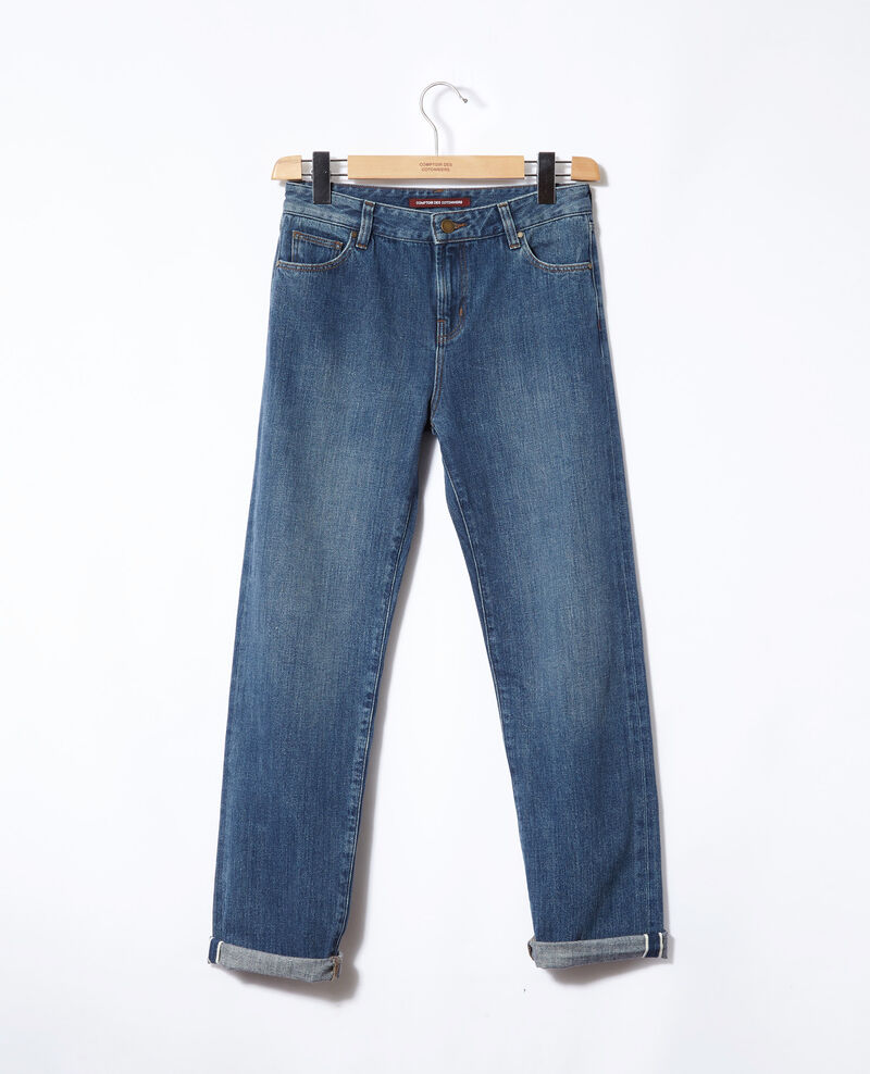 Real Straight-Jeans Vintage wash Ganon