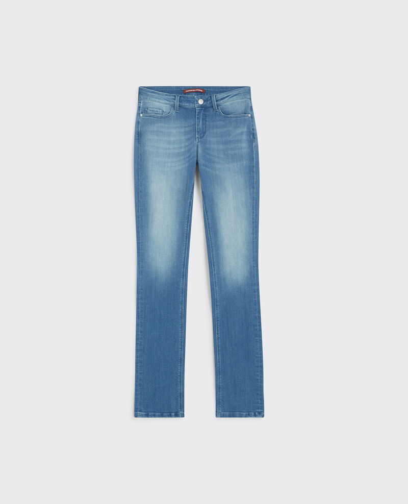 "Gerade Jeans ""Fille dans le vent"" Light surf blue Cube"