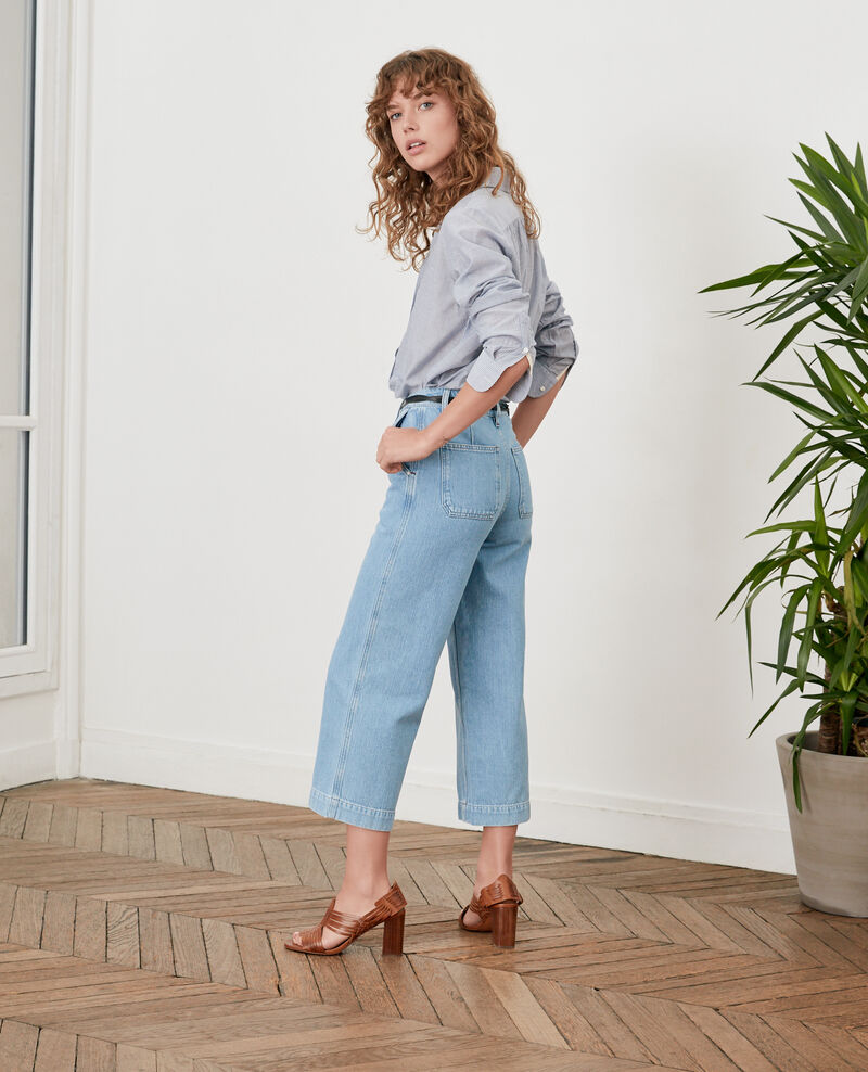 Wide Cropped-Jeans Light indigo Fropigo