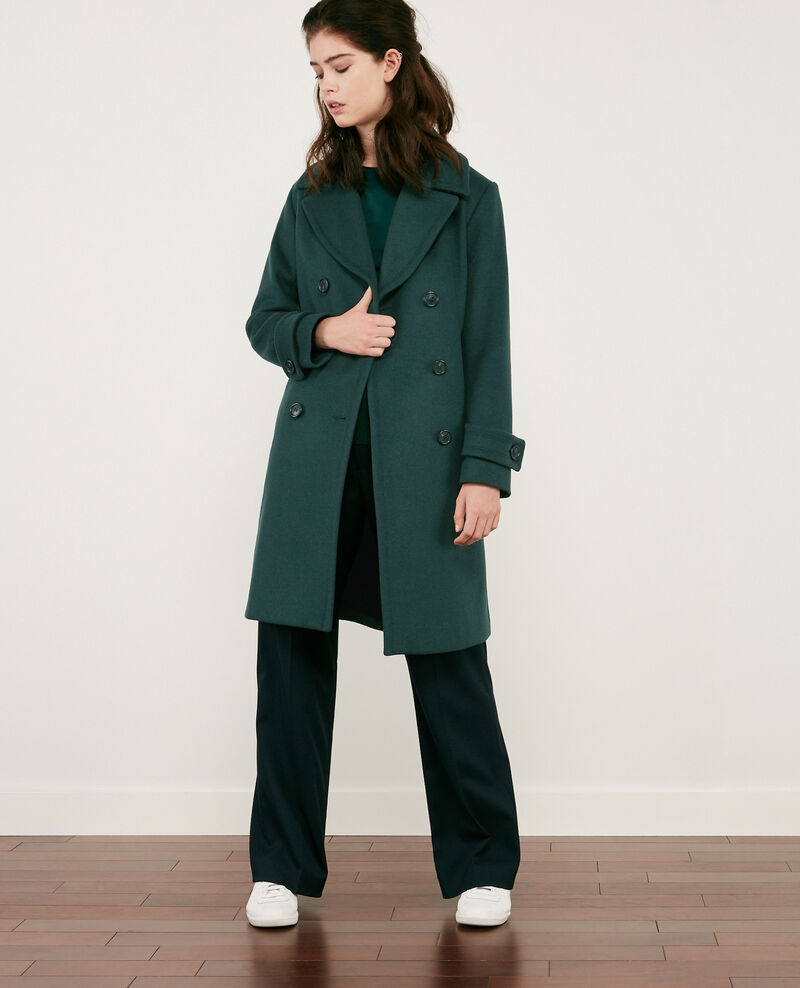 Caban-Wollmantel Deep green Didanglas