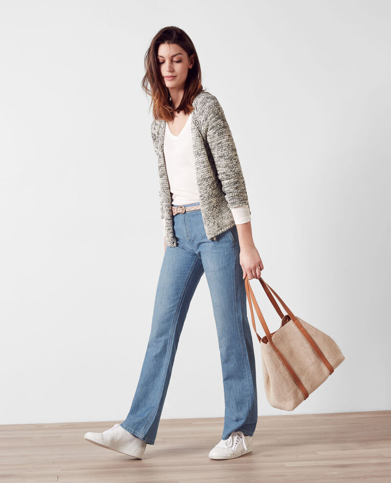 "Flare-Jeans mit hoher Taille ""Folie douce"" Beach blue Charleston"