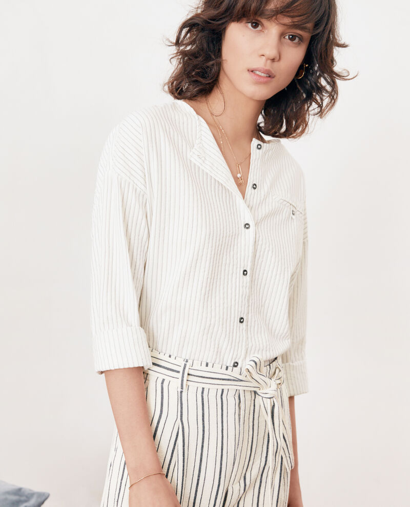 Gestreifte Bluse Off white/navy stripes Falaise