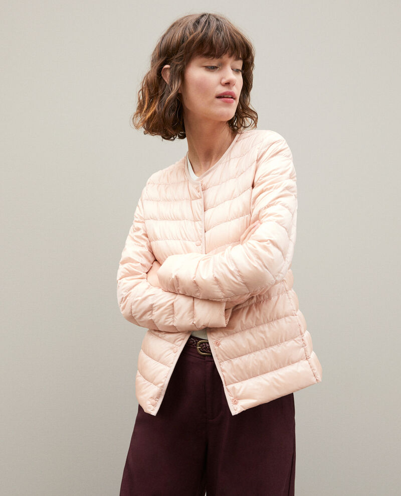 Ultra light Daunenjacke mit Rundkragen LIGHT PINK