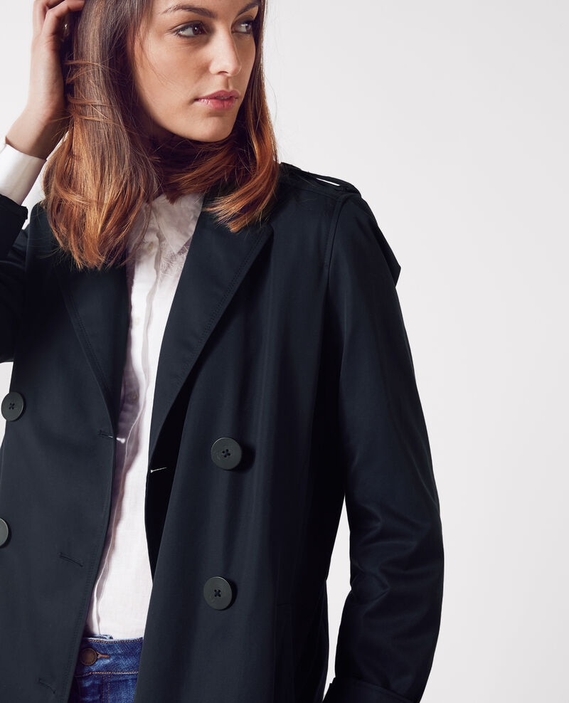Langer Trenchcoat mit herausnehmbarem Futter Dark navy Cable