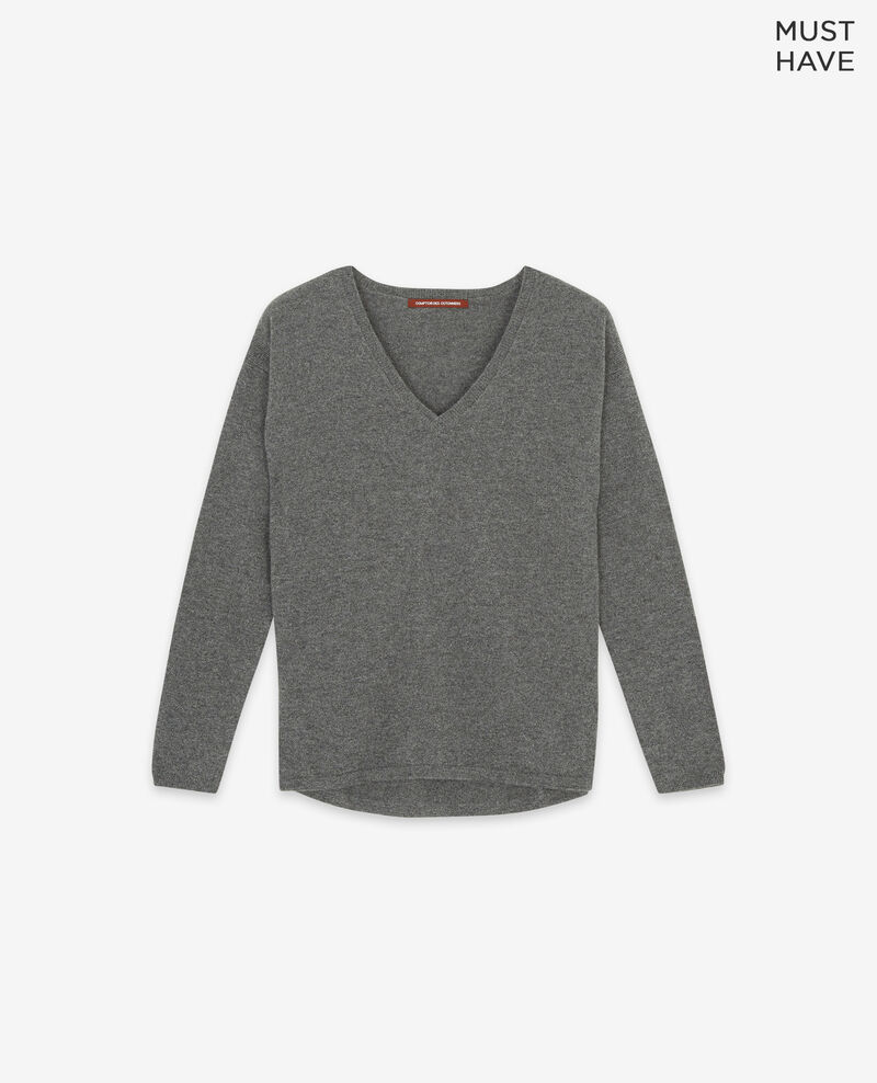 Reiner Kaschmir-Pullover Dark heather grey Dudoux