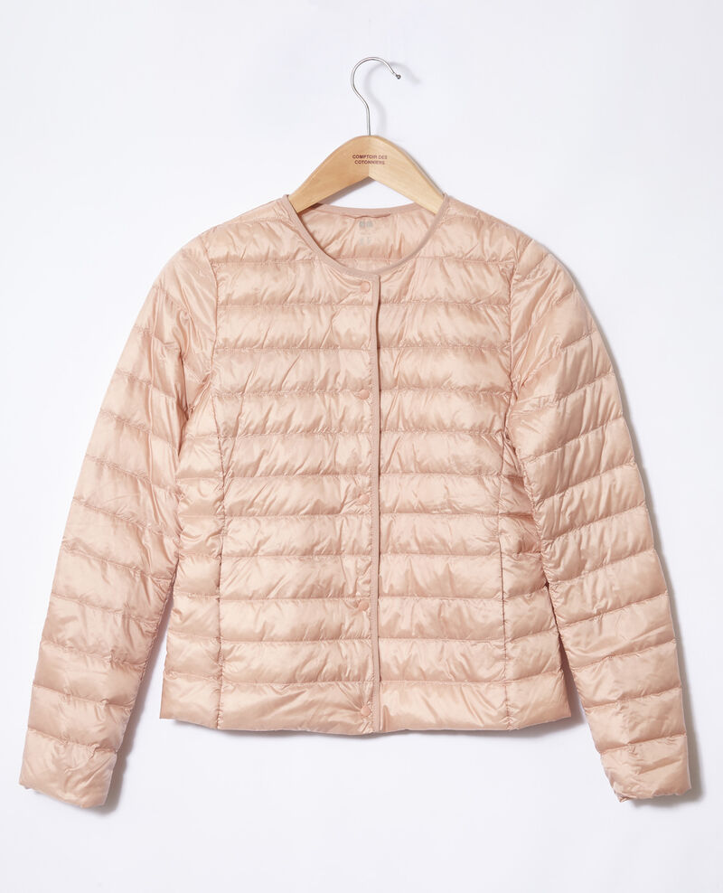 Ultra light Daunenjacke mit Rundkragen Light pink Fildown
