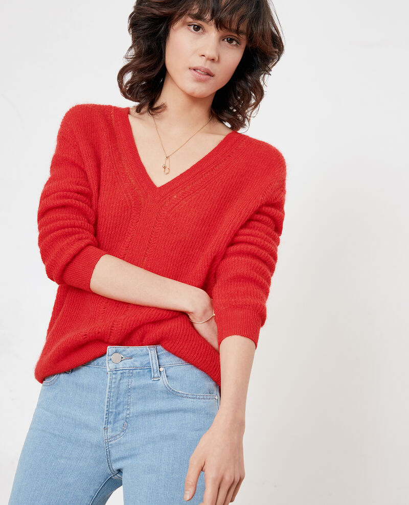 Pullover mit Mohair Lollipop Feever