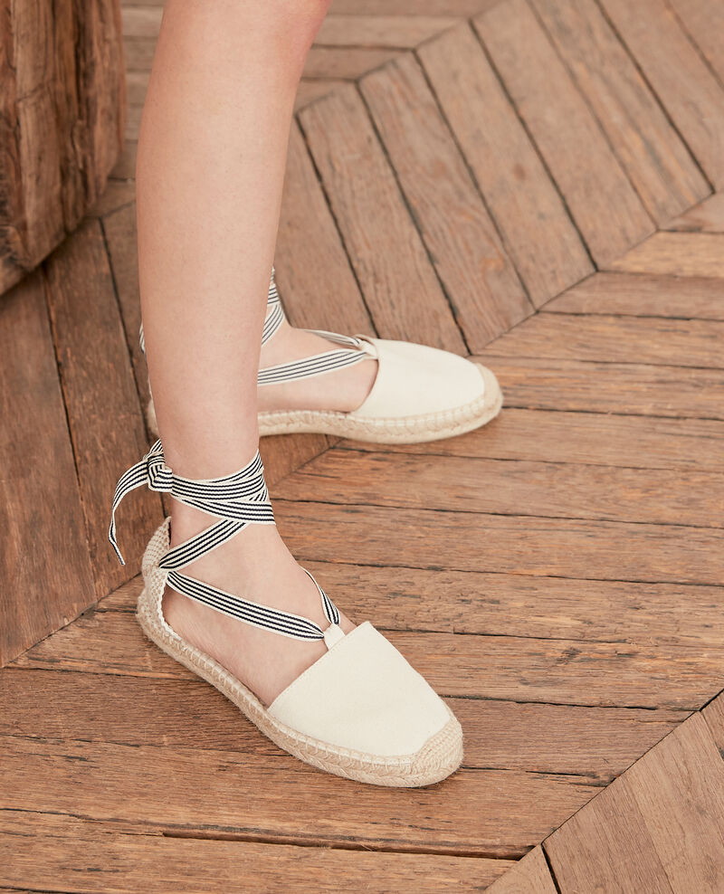 Flache Espadrilles Ecru/sailor stripes Ferret
