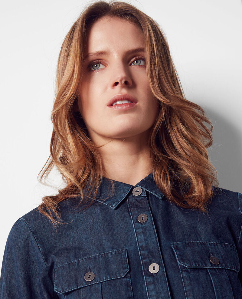 Denim-Bluse Dark blue Coquelicot