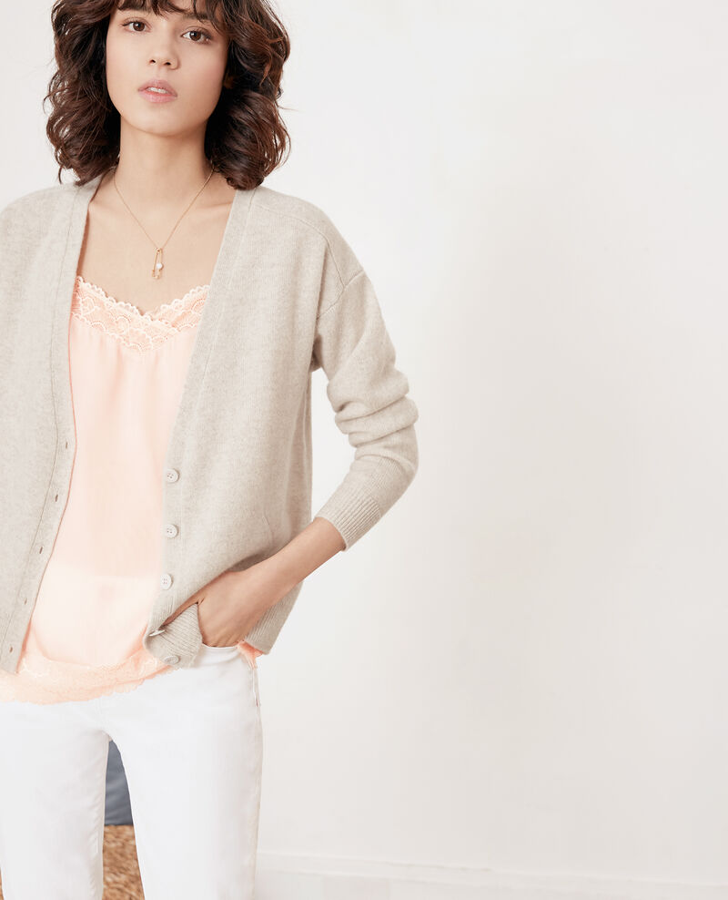 Cardigan aus Kaschmir Heather chalk Fremir
