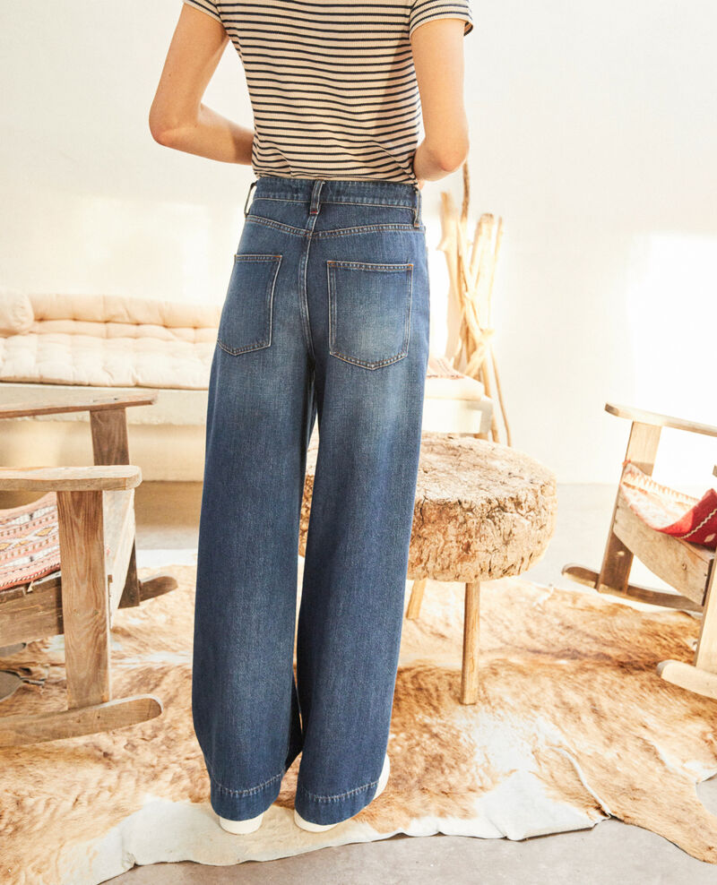 Wide Full Lenght-Jeans Vintage wash Guya
