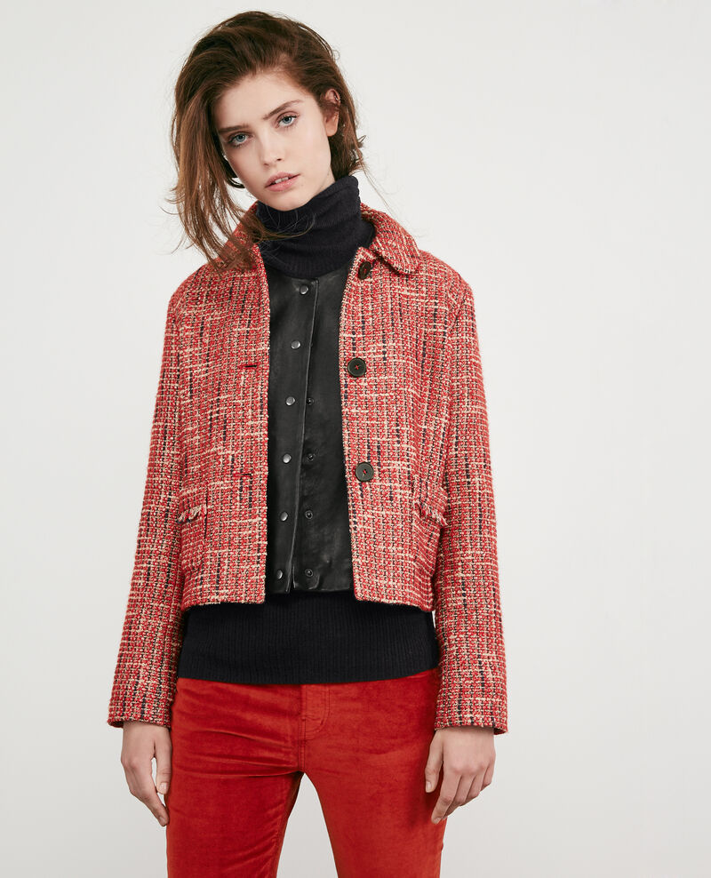 Tweed-Jacke Orange red Djimmy