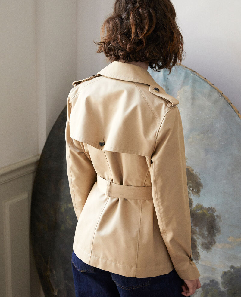 Kurzer Trenchcoat Travertine Giorgia