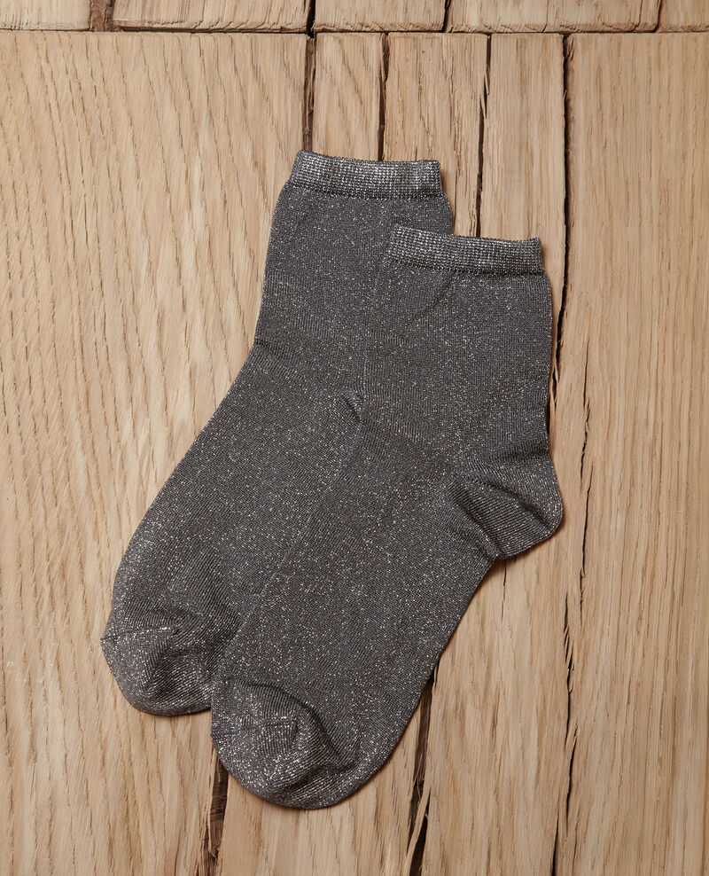 Socken mit Lurexgarn MEDIUM HEATHER GREY