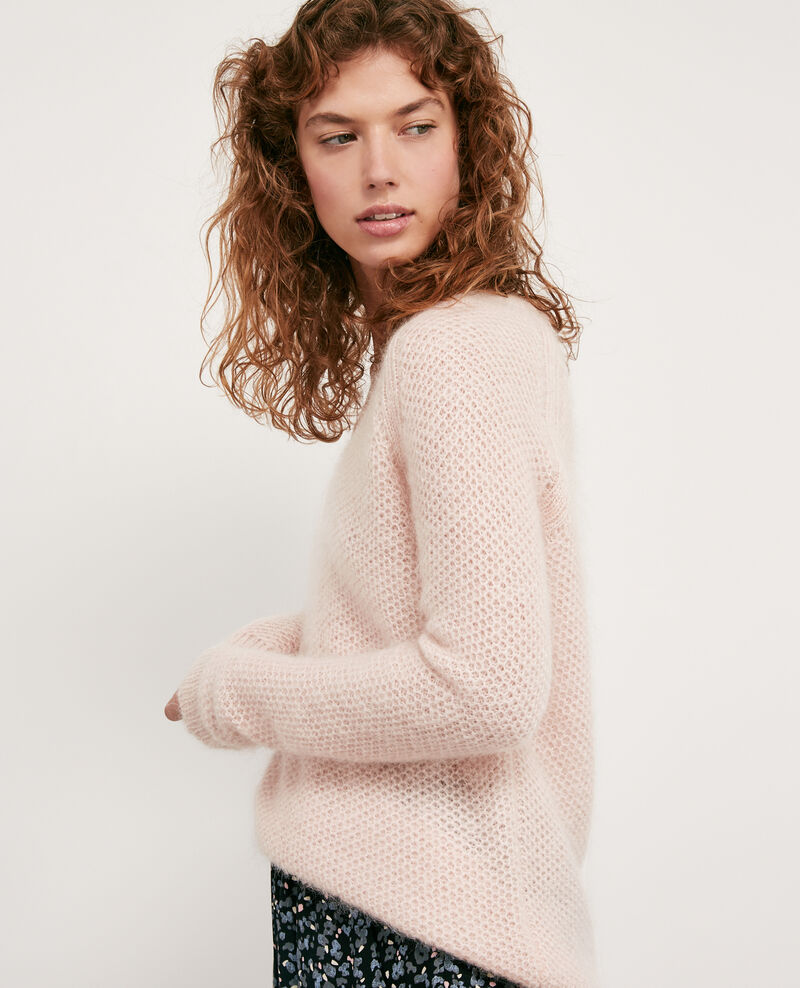 Mohair-Pullover Marshmallow/off white Dahbia