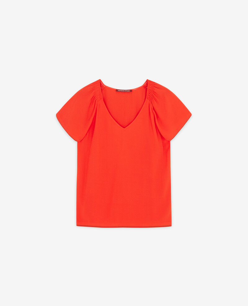 Fließende Bluse Orange red Deal
