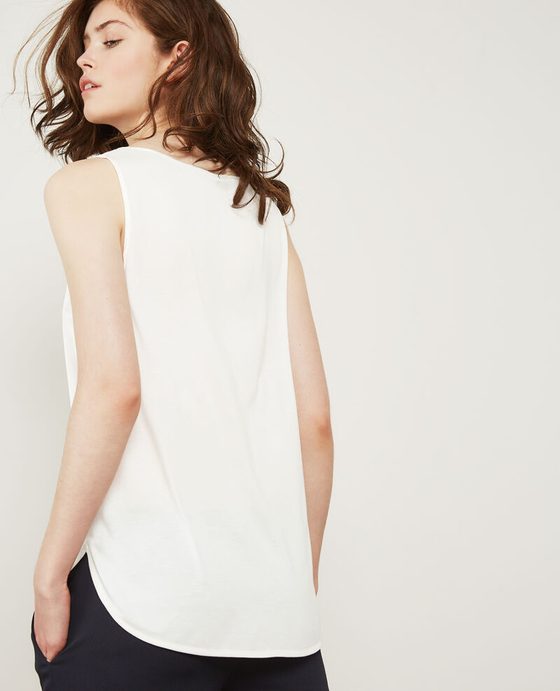 Bimaterial-T-Shirt mit Seide Off white Dicton