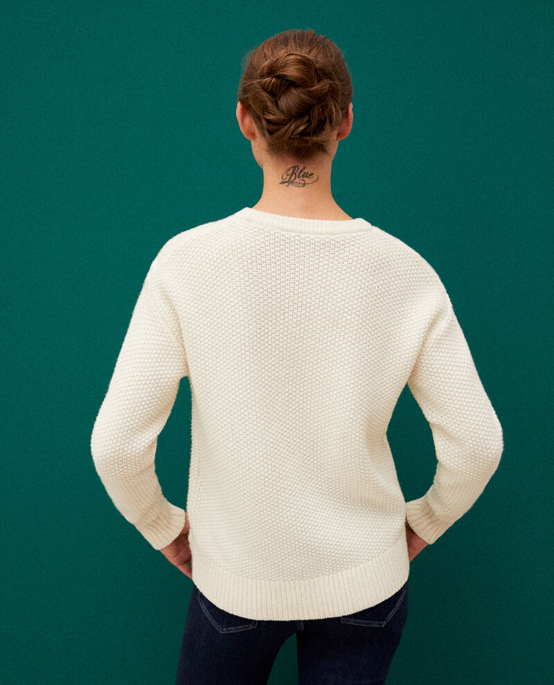 Pullover mit Zopfmuster Off white Goonies