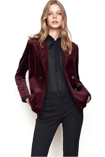 Look Velours-Blazer und Office-Jacke