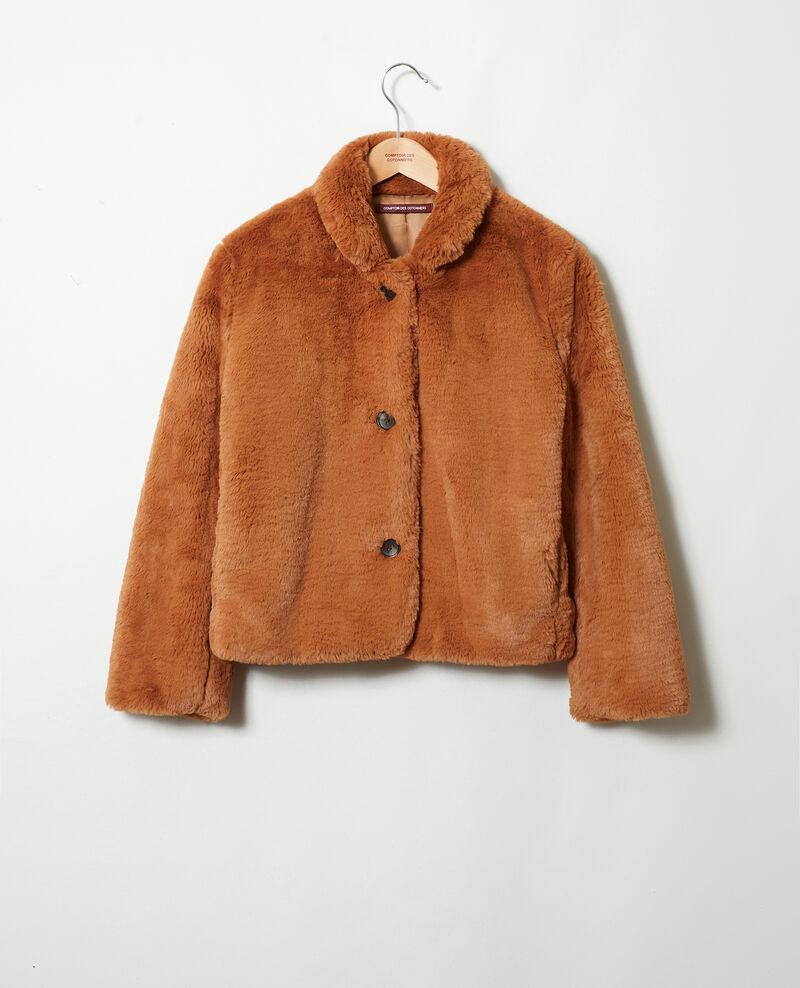 Kurzer Mantel aus Pelzimitat Lion Jakou