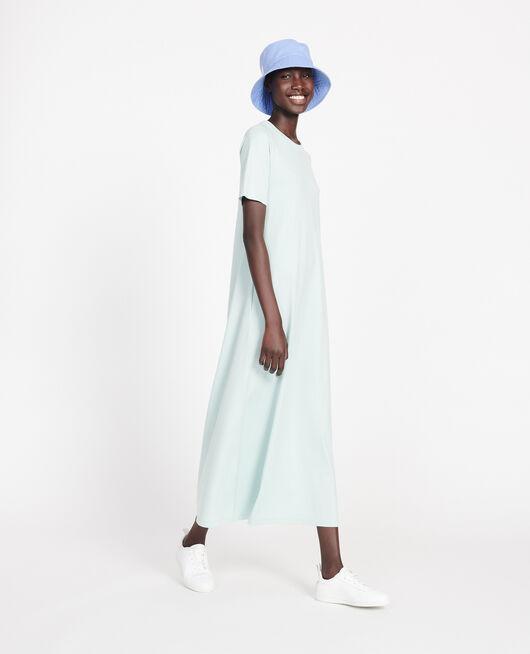 Langes Kleid aus merzerisierter Baumwolle BLUE HAZE