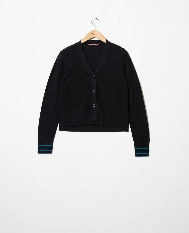 Cardigan aus Wolle Noir Idada