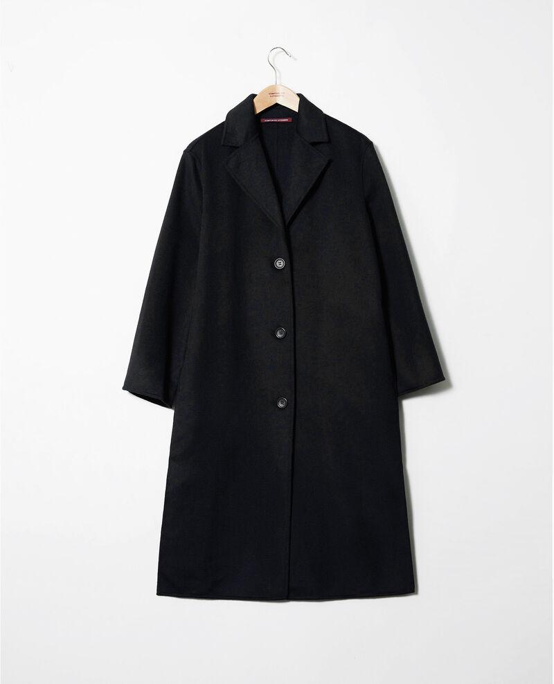 Zeitloser doppelseitiger Mantel  Noir Jacare